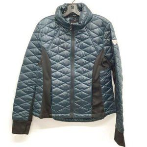 Guess Size L Quilted Blue Hooded Jacket